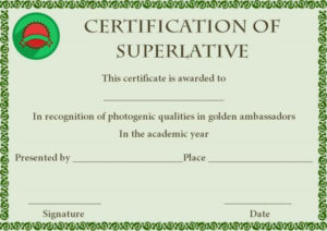 Superlative Award Certificate Template | Certificate throughout Superlative Certificate Templates