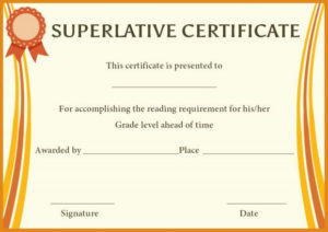 Superlative Award Certificate Templates | Awards regarding Best Superlative Certificate Template