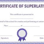 Superlative Certificate Template: 10 Certificate Designs To Intended For Fresh Superlative Certificate Template