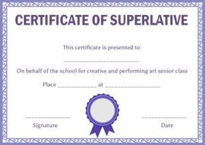 Superlative Certificate Template: 10 Certificate Designs To regarding Best Classroom Certificates Templates