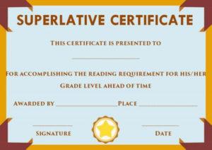 Superlative Certificate Template Word | Certificate for Best Superlative Certificate Templates
