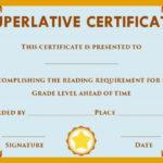 Superlative Certificate Template Word | Certificate Within Superlative Certificate Template