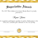 Superlative Templates For Fresh Superlative Certificate Template