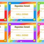 Superstar Certificates With Good Behaviour Certificate Template 10 Kids Awards