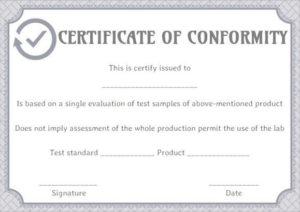 Supplier Certificate Of Conformance Templates | Printable inside Certificate Of Conformity Template Ideas