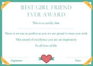 Surprise Your Girlfriend Using These 16+ Best Girlfriend in Best Girlfriend Certificate Template