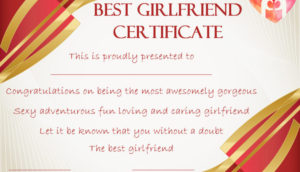Surprise Your Girlfriend Using These 16+ Best Girlfriend intended for Best Girlfriend Certificate 10 Love Templates