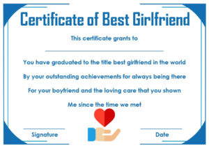Surprise Your Girlfriend Using These 16+ Best Girlfriend with Quality Best Girlfriend Certificate Template