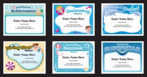 Swim Certificates   Swimming Award Templates   Swim Coach for Best Swimming Achievement Certificate Free Printable
