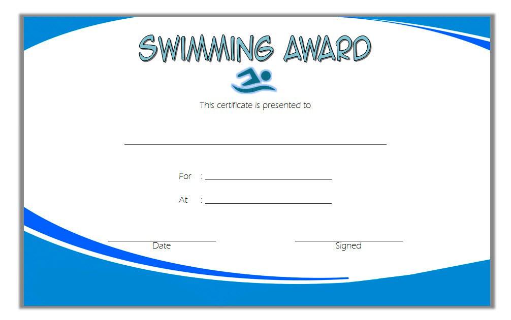 Swimming Award Certificate Free Printable 4 | Certificate intended for Swimming Award Certificate Template