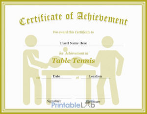 Table Tennis Certificate Format In Silver, Your Pink And within Table Tennis Certificate Template Free