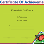 Table Tennis Printable Certificate With Regard To Best Table Tennis Certificate Template Free