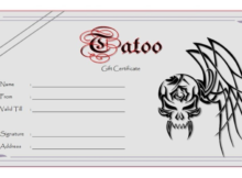 Tattoo Gift Certificate Template (5) - Templates Example inside Tattoo Gift Certificate Template