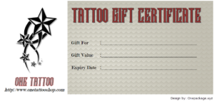Tattoo Gift Certificate Template Free Docx And Pdf (1St inside Tattoo Certificates Top 7 Cool Free Templates