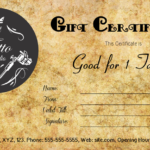 Tattoo Gift Certificate Template #Gift #Certificate With Regard To Tattoo Gift Certificate Template