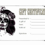 Tattoo Gift Certificate Template Inspirational Tattoo Gift regarding Tattoo Certificates Top 7 Cool Free Templates