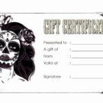 Tattoo Gift Certificate Template Inspirational Tattoo Gift regarding Tattoo Gift Certificate Template Coolest Designs