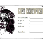 Tattoo Shop Gift Certificate Template Free 3 | Gift Within Fresh Happy New Year Certificate Template Free 2019 Ideas