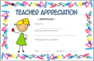 Teacher Appreciation Certificate Free Printable 5 | Teacher inside Teacher Appreciation Certificate Templates