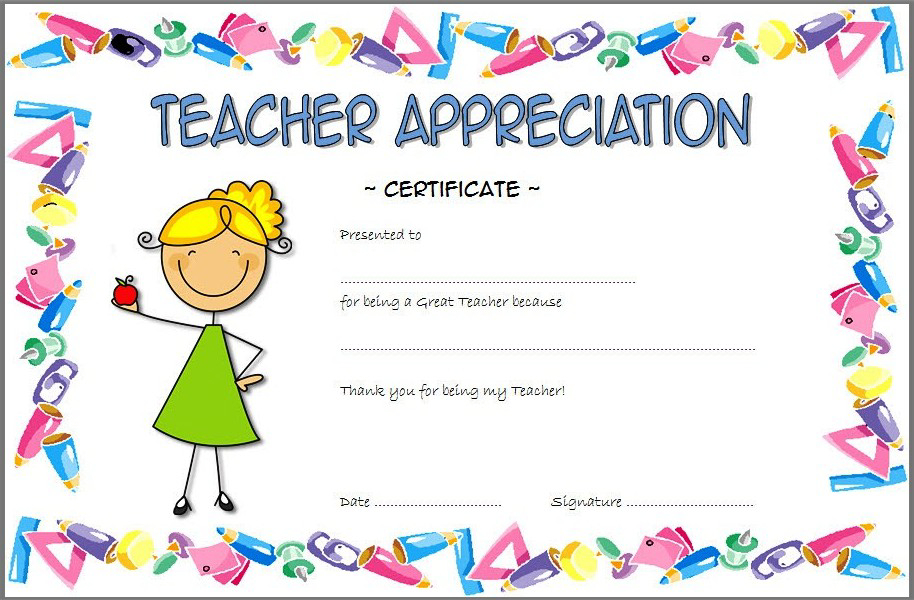 Teacher Appreciation Certificate Free Printable 5 | Teacher pertaining to Quality Teacher Appreciation Certificate Free Printable