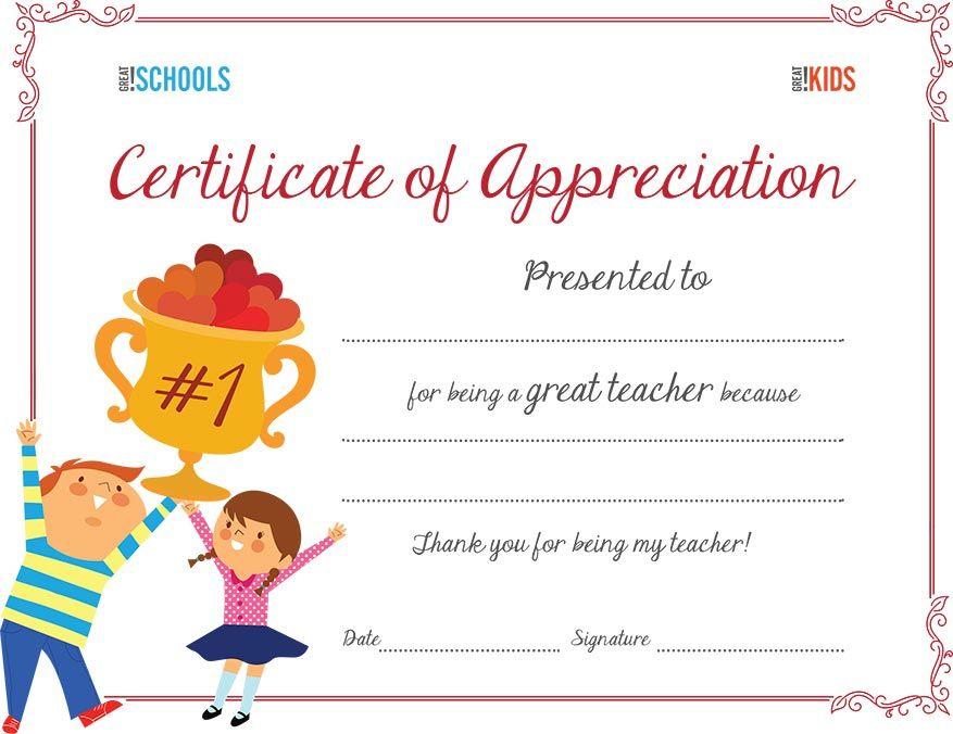 Teacher Appreciation Certificate | Parenting | Sunday School pertaining to Quality Teacher Appreciation Certificate Free Printable