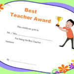 Teacher Of The Month Certificate Templates : 11+ Word Award With Regard To Best Teacher Certificate Templates