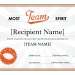 Team Spirit Award Certificate   Award Template, Free Intended For New Baseball Certificate Template Free 14 Award Designs