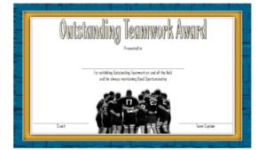 Teamwork Award Certificate Template Free | Awards intended for Free Teamwork Certificate Templates