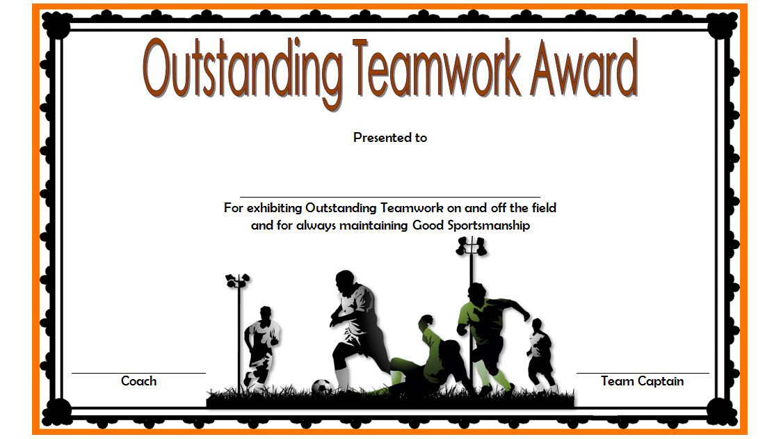 Teamwork Award Certificate Template Free In Football intended for Fresh Free Teamwork Certificate Templates