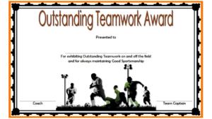 Teamwork Award Certificate Template Free In Football regarding Unique Free Teamwork Certificate Templates 10 Team Awards