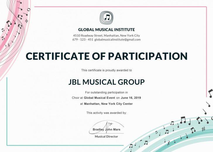 Template: Choir Certificate Template. Choir Certificate Of regarding Free Choir Certificate Templates 2020 Designs