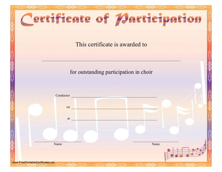 Template: Choir Certificate Template. Choir Certificate Of with regard to Unique Free Choir Certificate Templates 2020 Designs