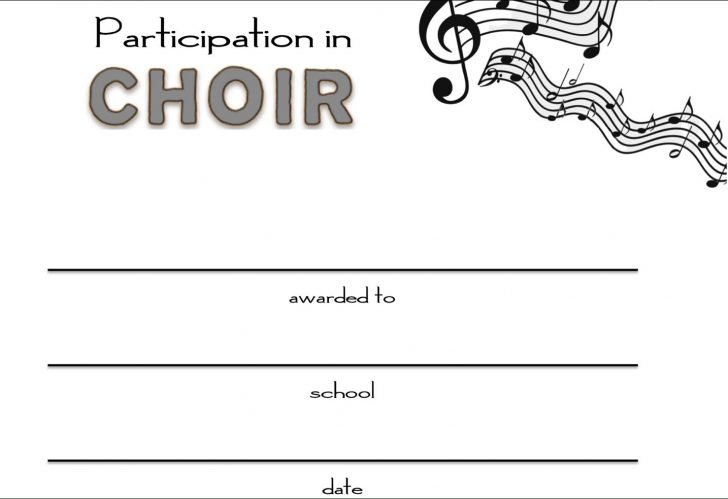 Template: Choir Certificate Template. Free Choir Award throughout Free Choir Certificate Templates 2020 Designs