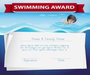 Template Of Certificate For Swimming Award – Download Free inside Unique Swimming Award Certificate Template