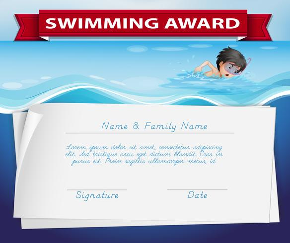 Template Of Certificate For Swimming Award - Download Free throughout Quality Swimming Certificate Template