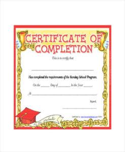Template Sunday School Certificate Template 5 Free Word intended for School Certificate Templates Free