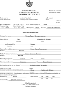 Templating As A Strategy For Translating Official… – Meta intended for Fresh Mexican Birth Certificate Translation Template