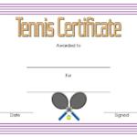 Tennis Award Certificate Template Free 1 In 2020 Throughout Tennis Gift Certificate Template
