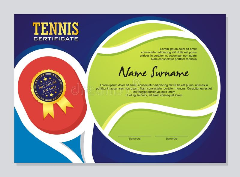 Tennis Certificate - Award Template With Colorful And pertaining to Quality Tennis Certificate Template