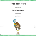 Tennis Certificate Template Free (1) – Templates Example Pertaining To Unique Tennis Gift Certificate Template