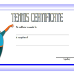 Tennis Certificate Template Free 2   Certificate Templates Intended For Tennis Gift Certificate Template