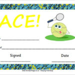 Tennis Certificate Template Free   Gift Certificate Template Intended For Tennis Gift Certificate Template