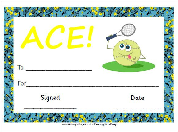 Tennis Certificate Template Free | Gift Certificate Template pertaining to Printable Tennis Certificate Templates 20 Ideas