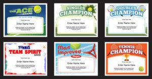 Tennis Certificates Templates | Tennis Awards | Participation for Fresh Tennis Participation Certificate