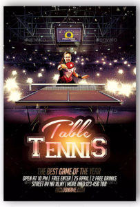 Tennis Flyer Templates – Free & Premium Psd Ai Png Eps Downloads with Table Tennis Certificate Templates Free 10 Designs
