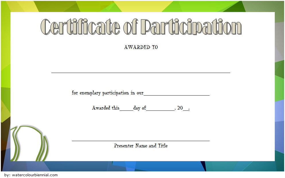 Tennis Participation Certificate Template Free 1 with regard to Tennis Participation Certificate