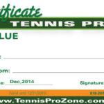 Tennis Pro Zone Gift Certificates – Tennis Pro Zone Academy Throughout Tennis Gift Certificate Template