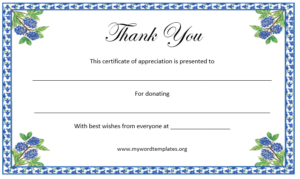 Thank You Certificate Template – Free Template Downloads with regard to New Thanks Certificate Template