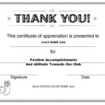 Thanks Certificate Template | Certificate Of Recognition in New Thanks Certificate Template