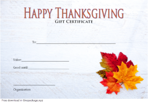 Thanksgiving Gift Certificate Template Free (The Best Design with Thanksgiving Gift Certificate Template Free